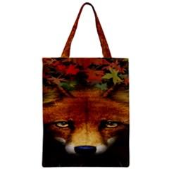 Fox Zipper Classic Tote Bag