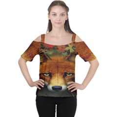 Fox Cutout Shoulder Tee