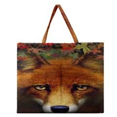 Fox Zipper Large Tote Bag