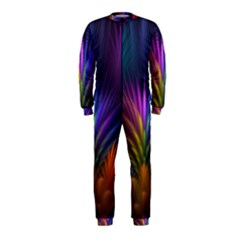Colored Rays Symmetry Feather Art Onepiece Jumpsuit (kids)