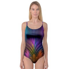 Colored Rays Symmetry Feather Art Camisole Leotard