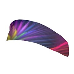 Colored Rays Symmetry Feather Art Stretchable Headband