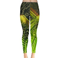 Electronics Machine Technology Circuit Electronic Computer Technics Detail Psychedelic Abstract Patt Leggings
