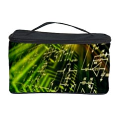 Electronics Machine Technology Circuit Electronic Computer Technics Detail Psychedelic Abstract Patt Cosmetic Storage Case