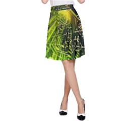 Electronics Machine Technology Circuit Electronic Computer Technics Detail Psychedelic Abstract Patt A Line Skirt