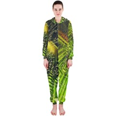 Electronics Machine Technology Circuit Electronic Computer Technics Detail Psychedelic Abstract Patt Hooded Jumpsuit (ladies)