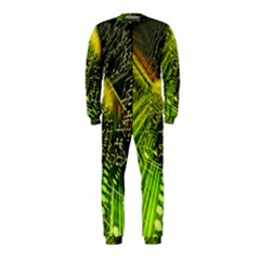 Electronics Machine Technology Circuit Electronic Computer Technics Detail Psychedelic Abstract Patt Onepiece Jumpsuit (kids)
