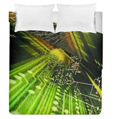 Electronics Machine Technology Circuit Electronic Computer Technics Detail Psychedelic Abstract Patt Duvet Cover Double Side (queen Size)