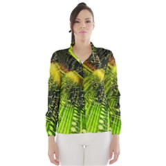 Electronics Machine Technology Circuit Electronic Computer Technics Detail Psychedelic Abstract Patt Wind Breaker (women)