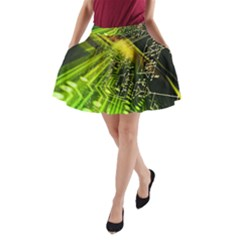 Electronics Machine Technology Circuit Electronic Computer Technics Detail Psychedelic Abstract Patt A Line Pocket Skirt