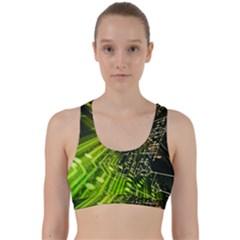 Electronics Machine Technology Circuit Electronic Computer Technics Detail Psychedelic Abstract Patt Back Weave Sports Bra