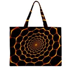 Honeycomb Art Zipper Mini Tote Bag