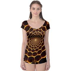 Honeycomb Art Boyleg Leotard