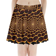 Honeycomb Art Pleated Mini Skirt