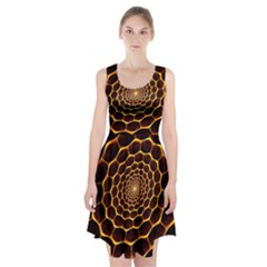 Honeycomb Art Racerback Midi Dress