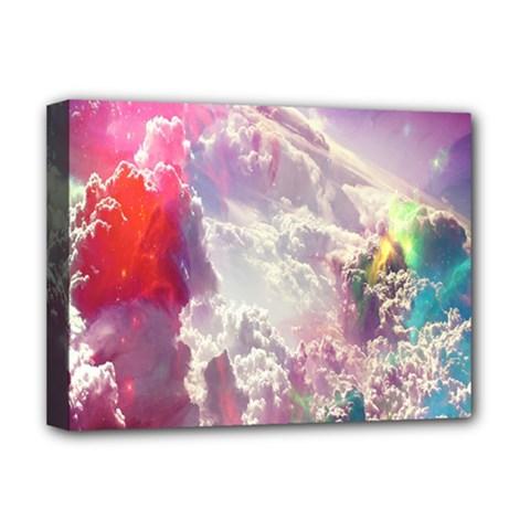 Clouds Multicolor Fantasy Art Skies Deluxe Canvas 16  X 12