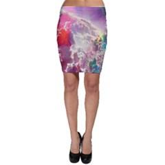Clouds Multicolor Fantasy Art Skies Bodycon Skirt