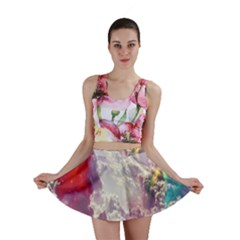 Clouds Multicolor Fantasy Art Skies Mini Skirt