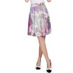 Clouds Multicolor Fantasy Art Skies A Line Skirt
