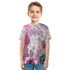 Clouds Multicolor Fantasy Art Skies Kids  Sport Mesh Tee