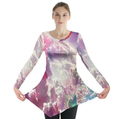 Clouds Multicolor Fantasy Art Skies Long Sleeve Tunic