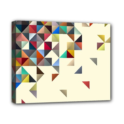 Retro Pattern Of Geometric Shapes Canvas 10  X 8