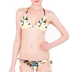 Retro Pattern Of Geometric Shapes Bikini Set