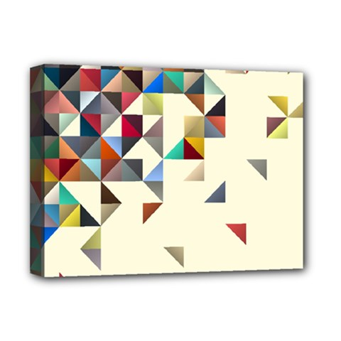 Retro Pattern Of Geometric Shapes Deluxe Canvas 16  X 12