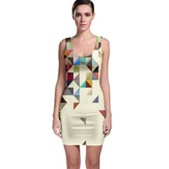 Retro Pattern Of Geometric Shapes Bodycon Dress
