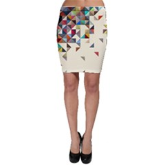 Retro Pattern Of Geometric Shapes Bodycon Skirt