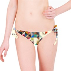 Retro Pattern Of Geometric Shapes Bikini Bottom