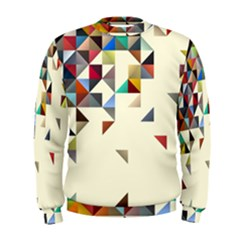 Retro Pattern Of Geometric Shapes Men s Sweatshirt