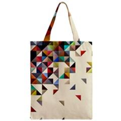 Retro Pattern Of Geometric Shapes Zipper Classic Tote Bag