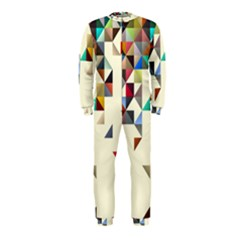 Retro Pattern Of Geometric Shapes Onepiece Jumpsuit (kids)