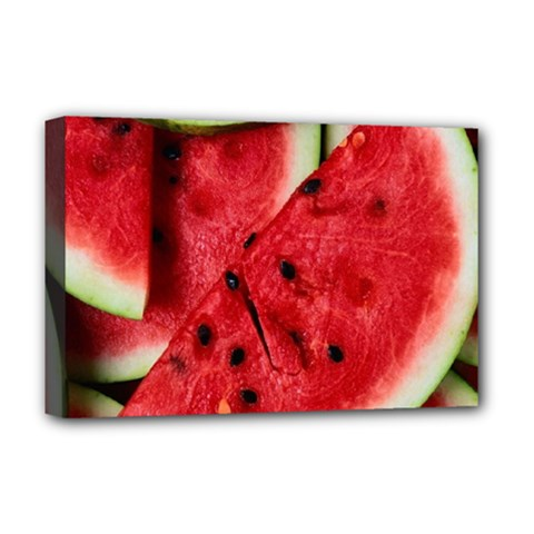 Fresh Watermelon Slices Texture Deluxe Canvas 18  X 12