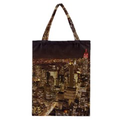 New York City At Night Future City Night Classic Tote Bag