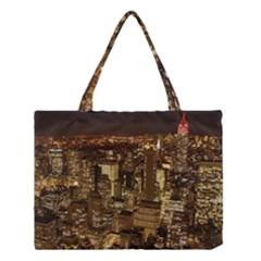 New York City At Night Future City Night Medium Tote Bag
