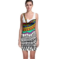 Abstract Apple Art Colorful Bodycon Dress