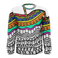 Abstract Apple Art Colorful Men s Long Sleeve Tee