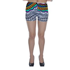 Abstract Apple Art Colorful Skinny Shorts