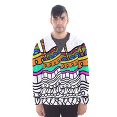 Abstract Apple Art Colorful Hooded Wind Breaker (men)