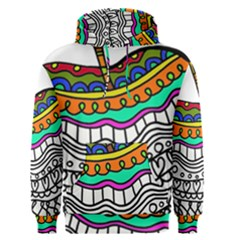 Abstract Apple Art Colorful Men s Pullover Hoodie