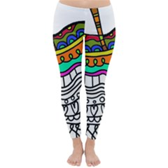 Abstract Apple Art Colorful Classic Winter Leggings