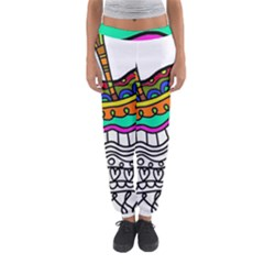 Abstract Apple Art Colorful Women s Jogger Sweatpants