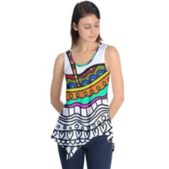 Abstract Apple Art Colorful Sleeveless Tunic