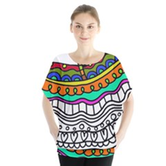 Abstract Apple Art Colorful Blouse