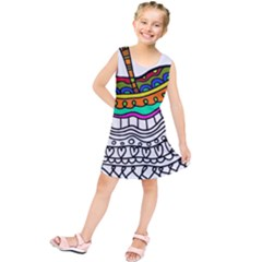 Abstract Apple Art Colorful Kids  Tunic Dress