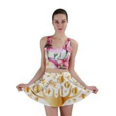 Abstract Book Floral Food Icons Mini Skirt