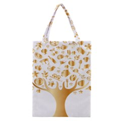 Abstract Book Floral Food Icons Classic Tote Bag