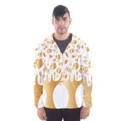 Abstract Book Floral Food Icons Hooded Wind Breaker (men)